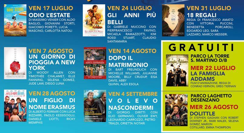 Film cinema al Castello di Desenzano del Garda