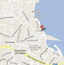 Mappa per arrivare al lido Desenzanino a Desenzano
