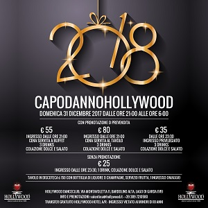 Capodanno all'Hollywood di Bardolino sul Lago di Garda
