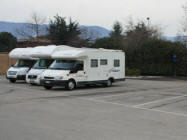 Sosta camper a Nago Torbole