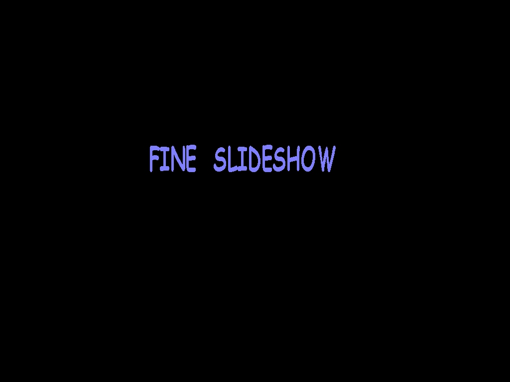 fine slide