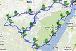 Mappa itinerario dei tre laghi