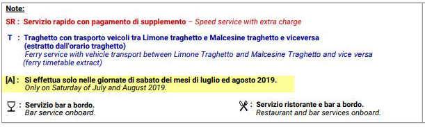 Note sugli Orari traghetti da Desenzano del Garda Estate 2019