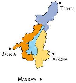 Olio Garda Dop Bresciano Mappa