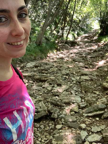 Passeggiata alla cima Comer sentiero