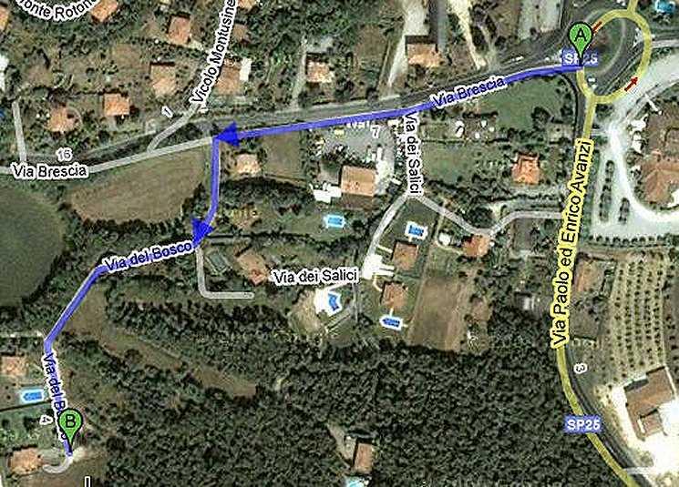 Foto pista ciclabile Lonato-Arzaga, verso Lonato