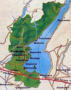 Garda Classico Rosso mappa