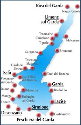 Cartina Politica Lago Di Garda.Localita Turistiche Lago Di Garda Stufa A Pellet