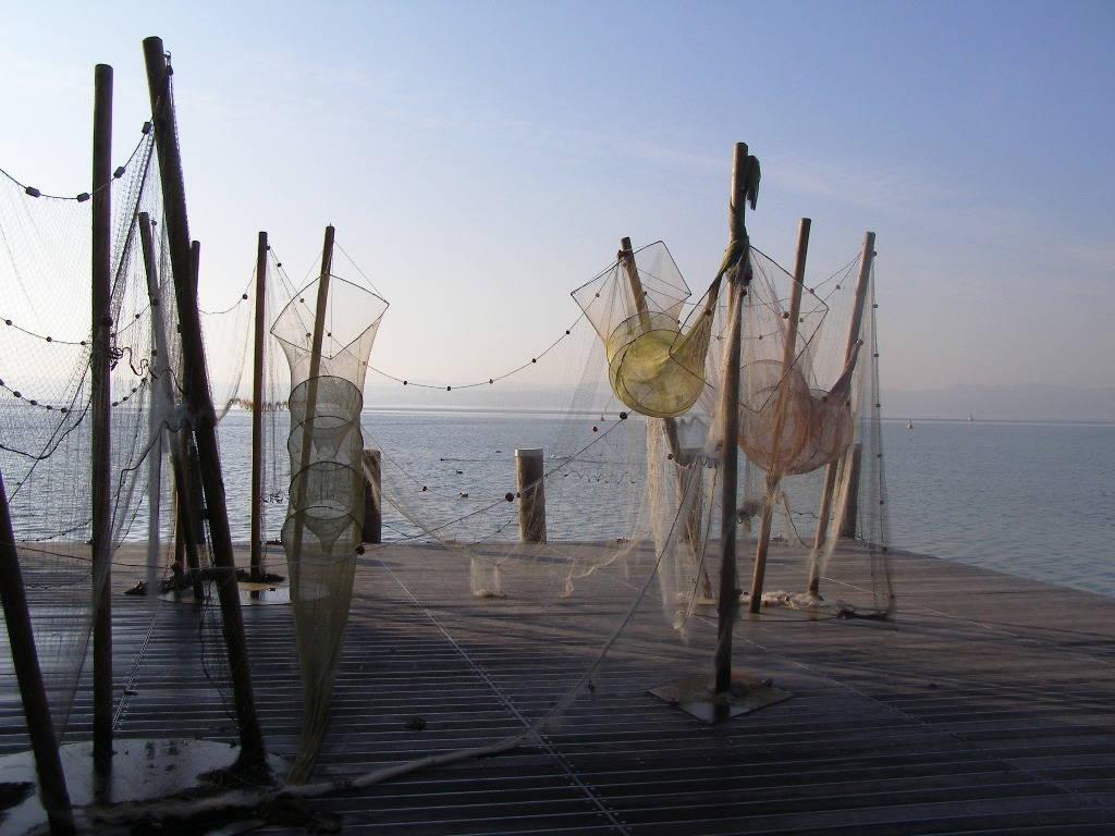 Reti da pesca sul Lago di Garda