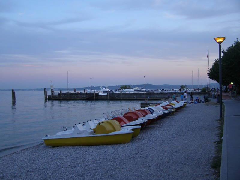 Tramonto a Moniga sul Lago di Garda