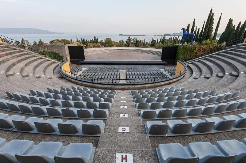 Il nuovo anfiteatro del Vittoriale di Gabriele d'Annunzio