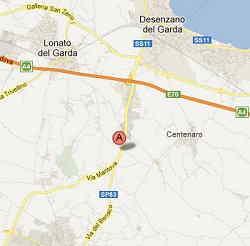 Mappa per raggiungere il Leone a Lonato