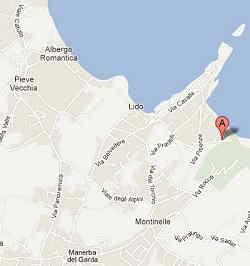 Mappa per arrivare a pisenze spiaggia