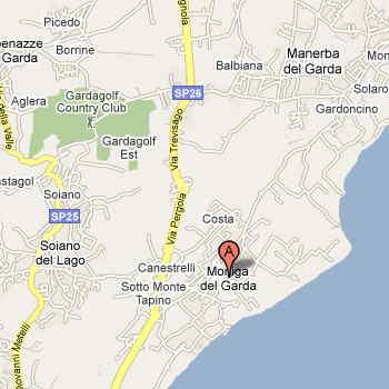 Mappa per arrivare a Moniga (BS)