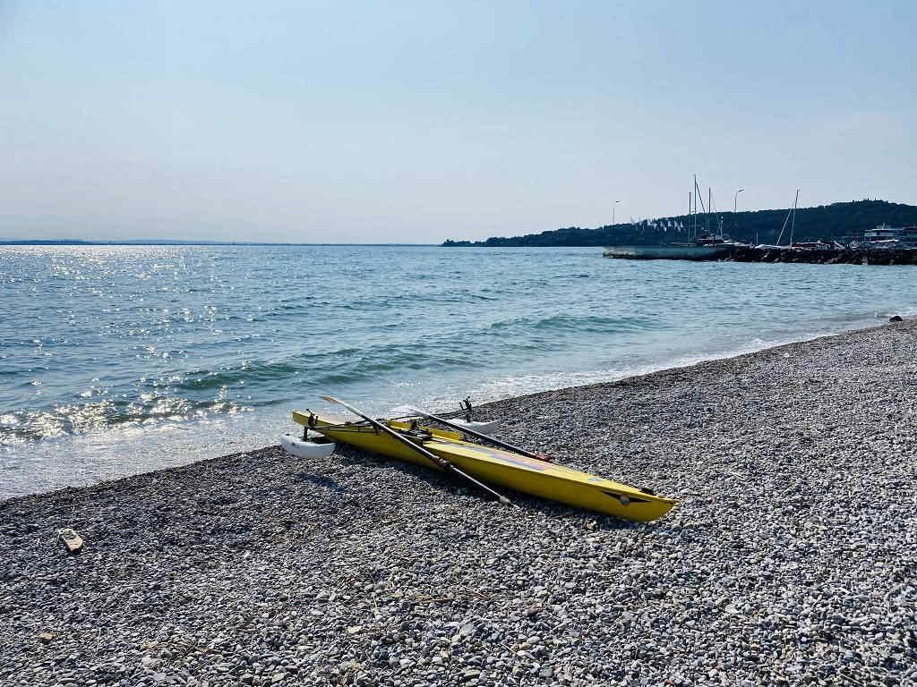 Spiaggia libera di Padenghe del Garda