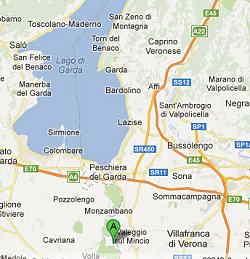 Mappa per arrivare al Parco Cavour
