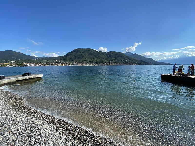 Spiagge e a Salò sul Lago di Garda