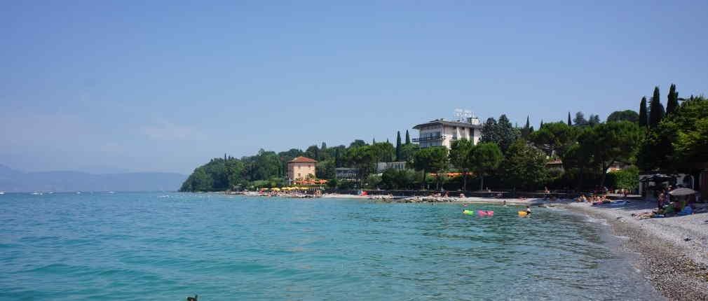 Spiaggia Porto Portese sul Lago di Garda