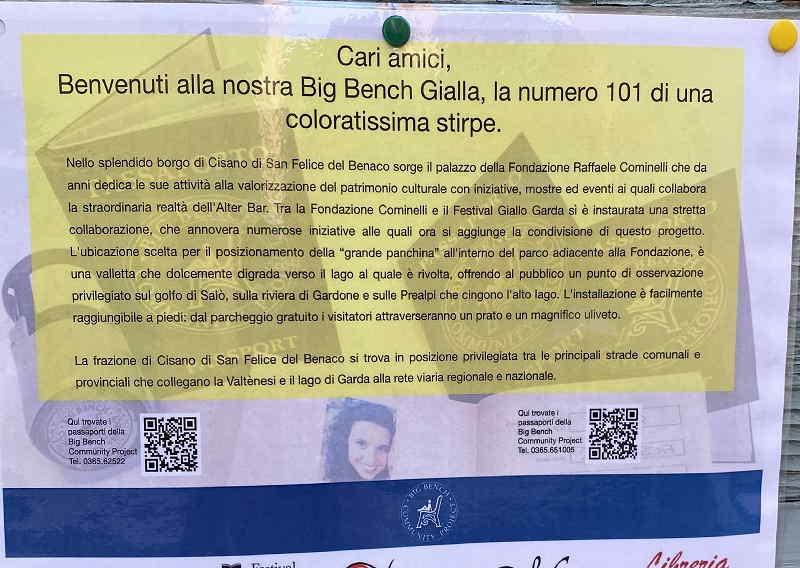 Panchina Gigante a San felice del Benaco (BS) sul Lago di Garda