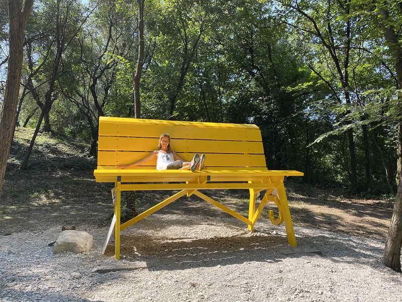 Big Bench n. 101 a San felice del Benaco (BS) sul Lago di Garda