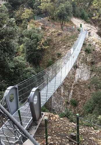 Ponte tibetano sul lago di Garda